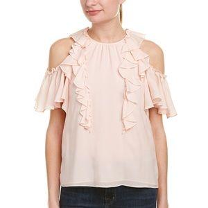 Rebecca Taylor Cold shoulder pink top